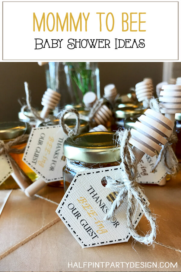 Mommy to bee baby shower with honey favors