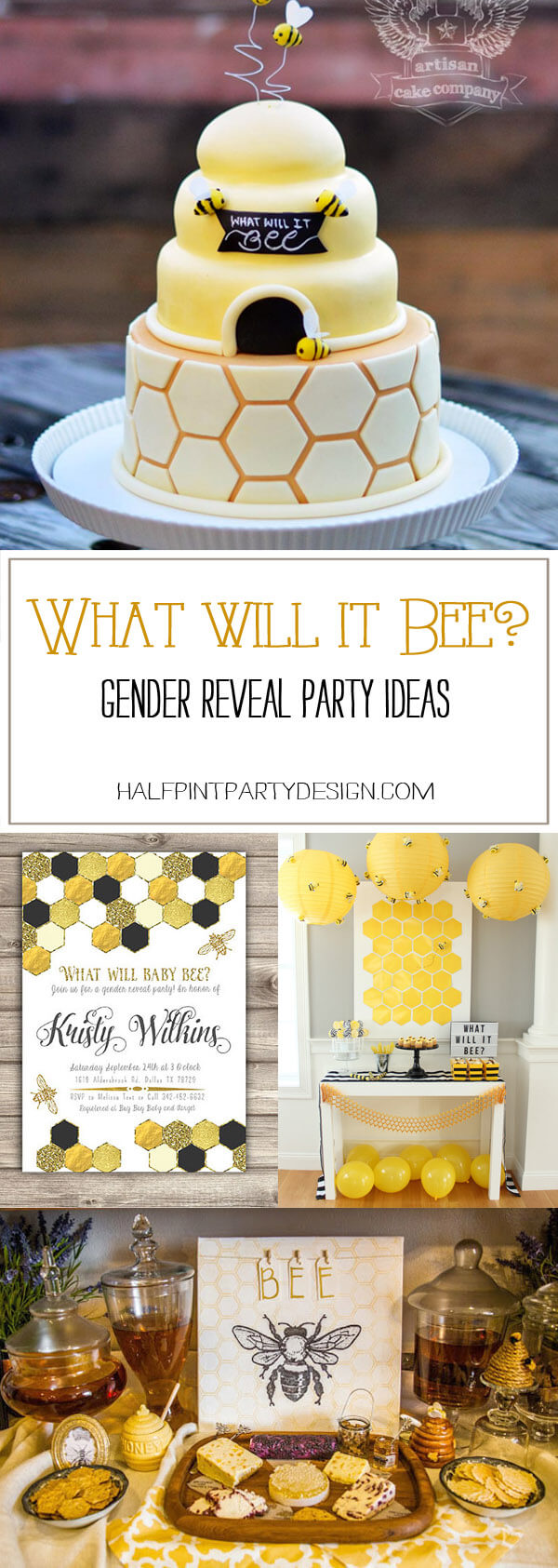 What Will it Bee? Gender Reveal Party Ideas - Halfpint Party Design
