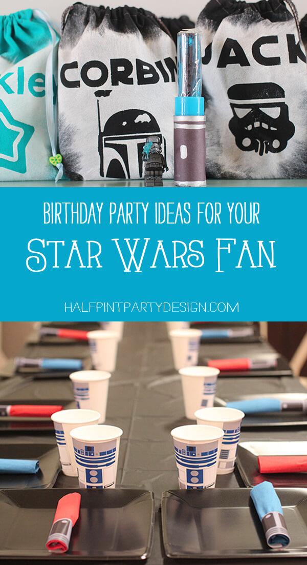 Pinterest collage for a Star Wars Birthday Party
