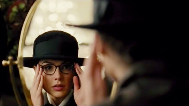 Image from Wonder Woman movie of Gal Gadot in glasses for Wonder Woman Party post