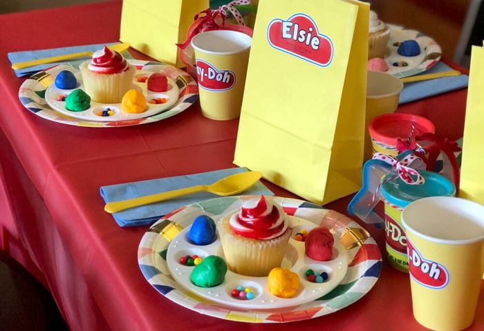 Simple Play-Doh Birthday Party Ideas