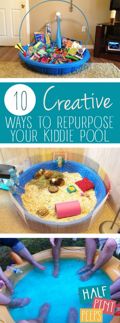 10 Creative Ways to Repurpose Your Kiddie Pool| Kiddie Pool, DIY Kiddie Pool, Kiddie Pool Uses, Uses for a Kiddie Pool, Repurpose, Repurpose Projects, Popular Pin #KiddiePool #DIY #Kids