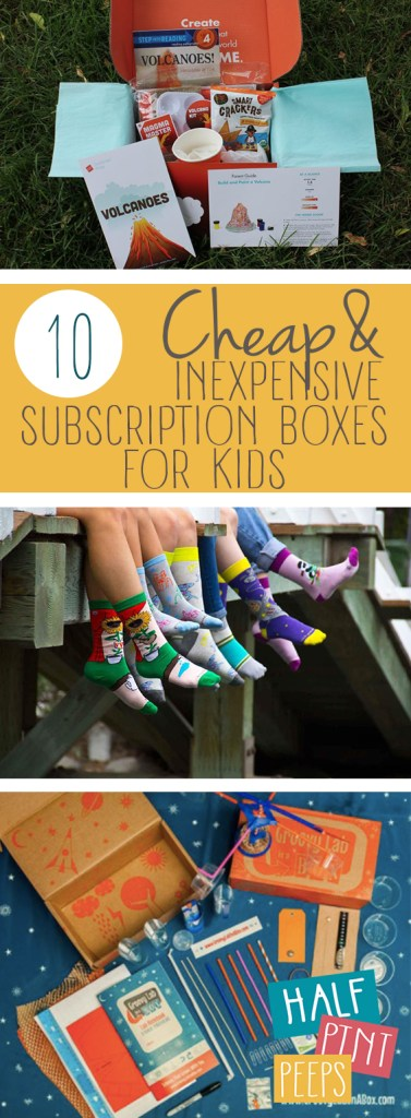 10 Cheap and Inexpensive Subscription Boxes for Kids| Subscription Boxes, Subscription Boxes for Kids, Cheap Subscription Boxes, Inexpensive Cheap Subscription Boxes, Kids Crafts, Activities for Kids