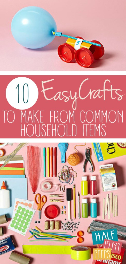10 Easy Crafts to Make from Common Household Items| Easy Crafts, Easy Crafts for Kids, Easy Crafts for Kids to Make,  Crafts for Kids Easy, Kid Crafts, Kid Crafts Easy