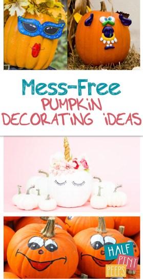 Pumpkin Decorating Ideas | Mess-Free Pumpkin Decorating Ideas for Kids | Pumpkin Decorating for Kids | Pumpkin Decorating | Pumpkin | Halloween Pumpkin Decorating Ideas | Fall | Halloween