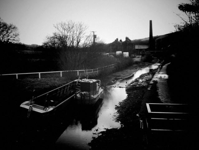 Canal restoration near Marsden