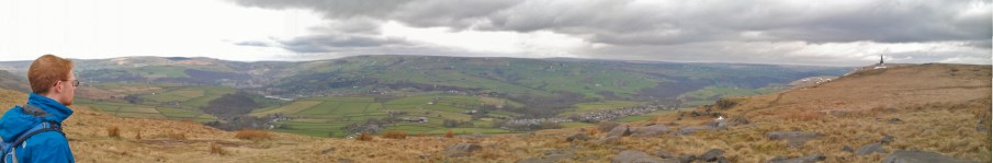 Panograph of views near East Scout at Stoodley Pike