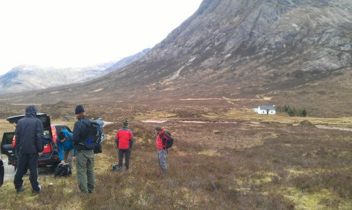 Buchaille Etive Mor car parking area