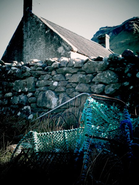 Fishing pots at Guirdil Bothy on Rum