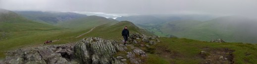 Looking back towards Glenridding and beyond from Striding Edge