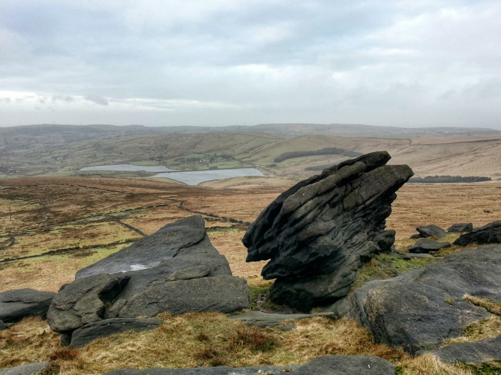 Millstone Edge Dinner Stone on Poetry Trail Marsden