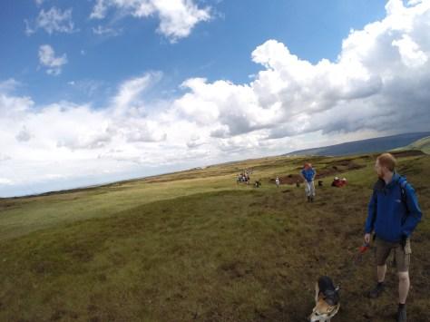 between Holme Moss Black Hill Yorkshire Moors