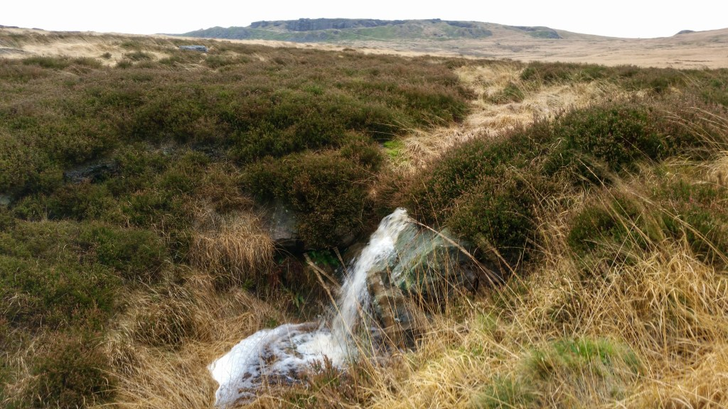 intermittent moors waterfall below Shooters Nab