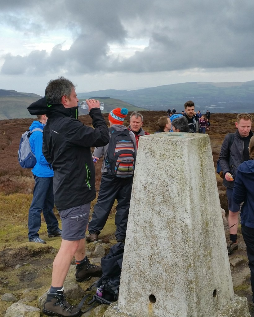 Freshwalks Glossop to Kinder downfall Harry Hut Trig