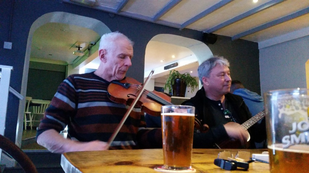 Mac and Tony playing in The Heights Llanberis