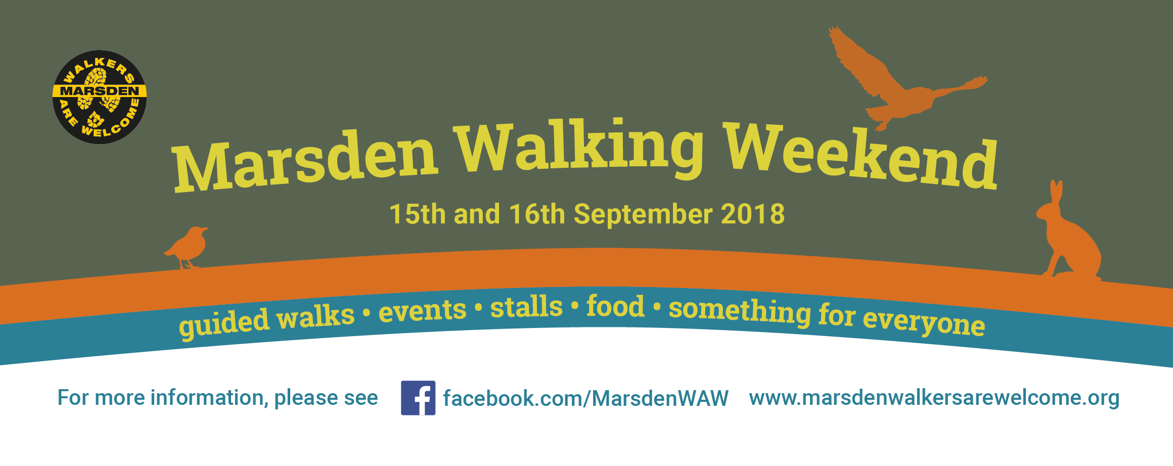 Marsden Walking Weekend 2018 banner