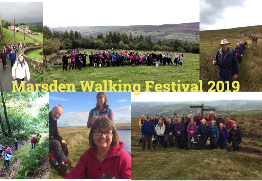 Marsden Walking Fetsival events photo montage from 2018