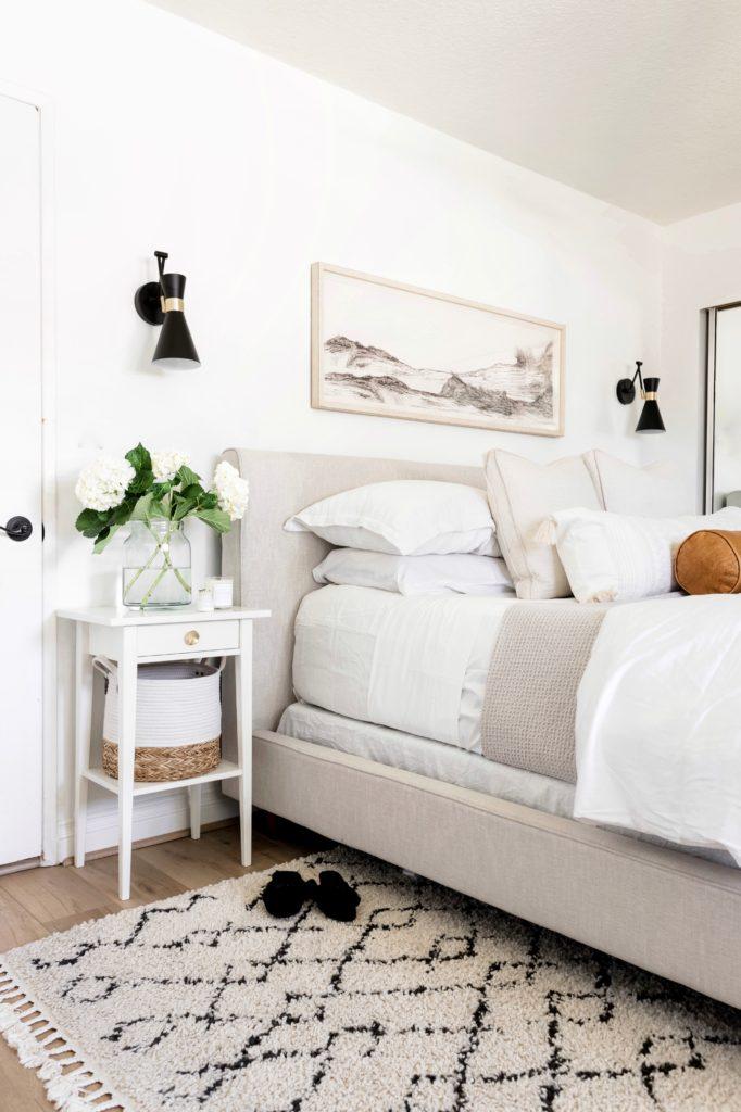 your bed with a long lumbar pillow