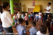 Dancing and singing are a huge part of the curriculum at the school.