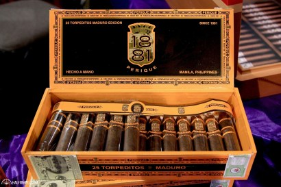 The distribution company Daughters & Ryan had an interesting cigar on display, the 1881 Perique Maduro, which is made in the Philippines and uses the very unique perique tobacco, which generally comes from Louisiana and delivers a very intense, powerful and fruity aroma.