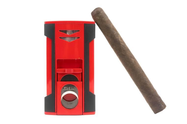 JetLine V-6 lighter with cigar