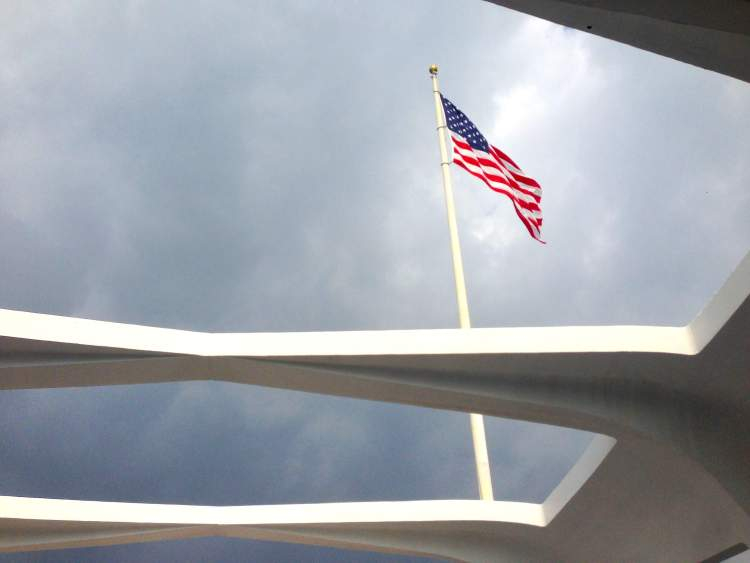 Arizona Memorial American Flag