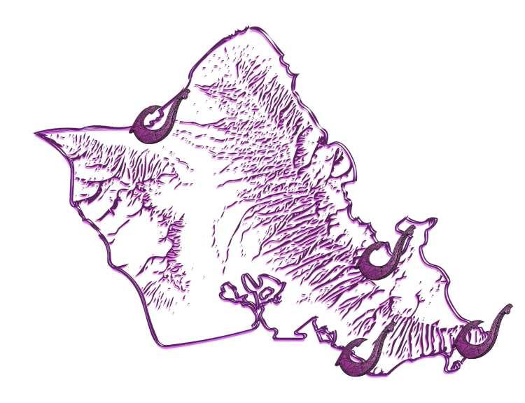 custom Oahu island activities in Honolulu, Hawaii map