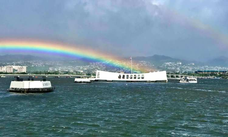 Arizona Memorial and Rainbow