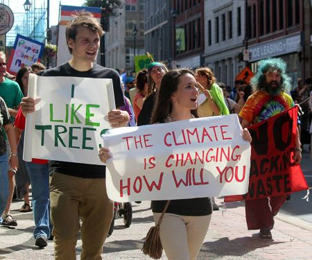 The People's Climate March, the largest environmental action in history, took place Sept 21 in communities across 162 nations around the world. Halifax's march saw four hundred Nova Scotian's conquering the streets for a beautiful Sunday afternoon. Photo Zack Metcalfe