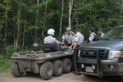 RCMP routinely block access to SWN Resource Canada's 'Line 5' [Photo: Miles Howe
