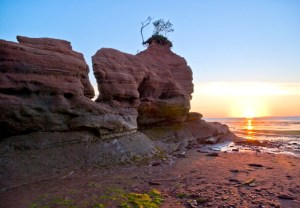 Sandstone Formations at Medford Beach Minas Basin