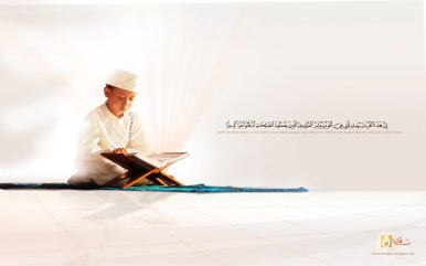 reading_Quran_al_Karim_by_islamicwallpers