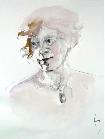 Life Drawing, Watercolor, 45x60cm