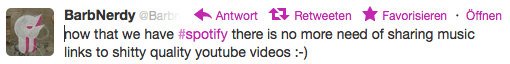 Barbnerdy auf Twitter Spotfy YouTube bad audio