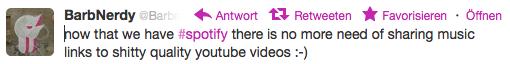 Barbnerdy auf Twitter Spotfy YouTube bad audio