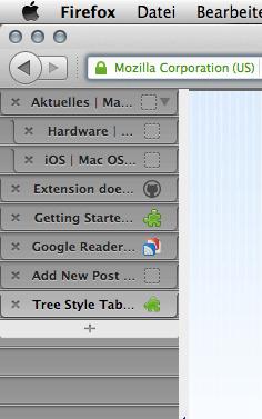 Mozilla addon tree style tab