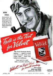 Bob Hall Tobacco Ad, 1940