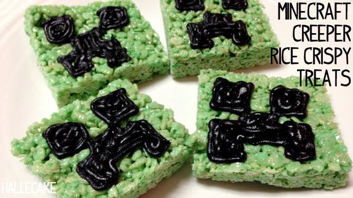minecraft creeper rice krispy treats feature