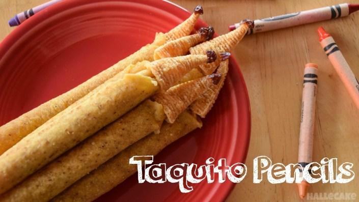 taquito pencil back to school snack