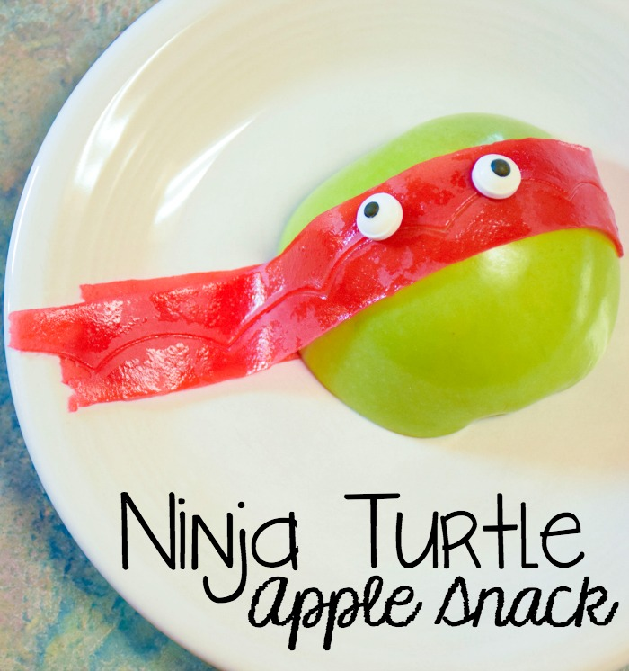 ninja turtle apple snack