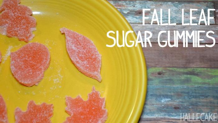 fall leaf sugar gummies