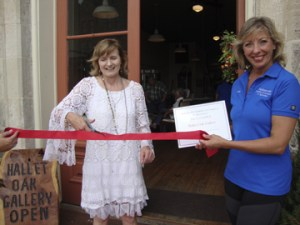 Mieko Mahi's grand opening ribbon cutting with Hallettsville Chamber of Commerce!