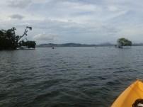 On our trek around the island.
