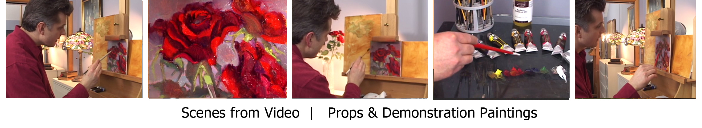 Painting Roses Video, Learn to Paint Flowers