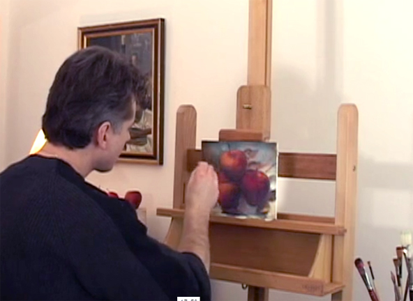 oil painting apples video