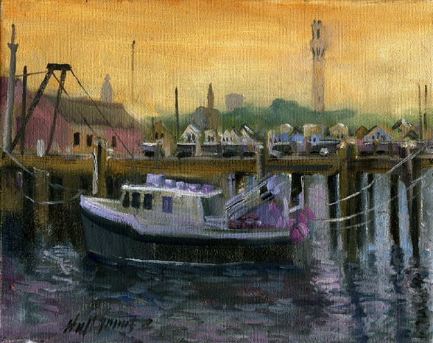 Provincetown Fishing Boat 8 x 10 in. .Oil on canvas