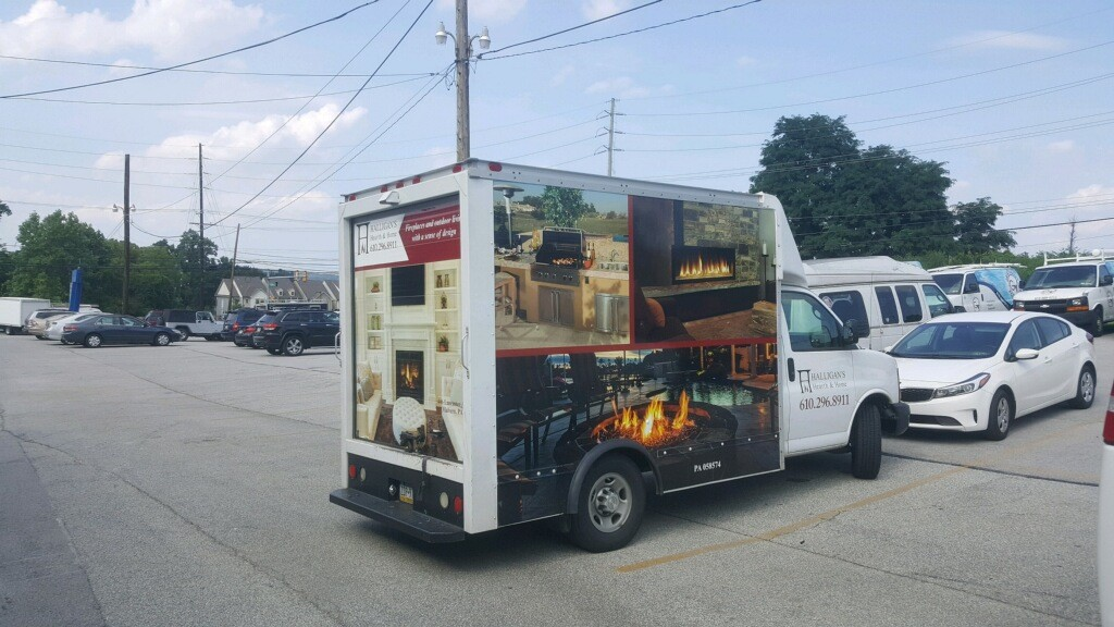 Halligans Hearth and Home truck