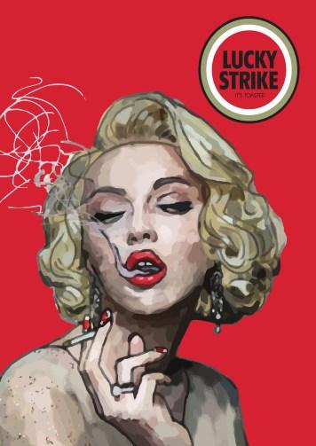 women smokin a lucky red
