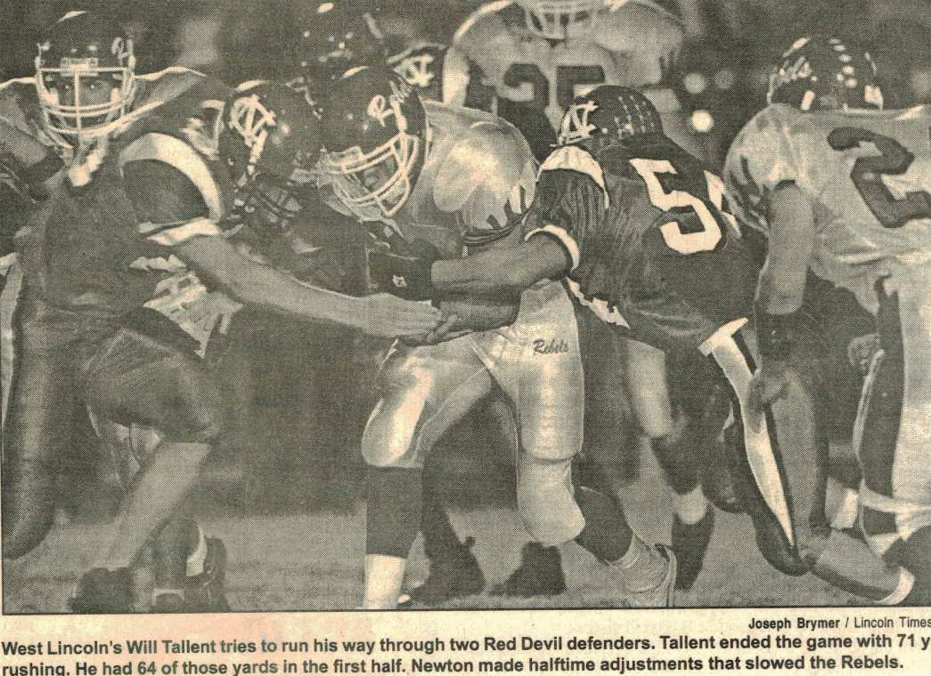 2004 Newton vs West Lincoln Newspaper Clipping Scanned