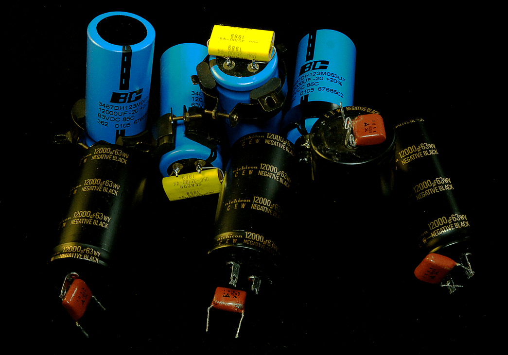 BC Philips and Nichicon CEW Power Capacitor Comparision shot